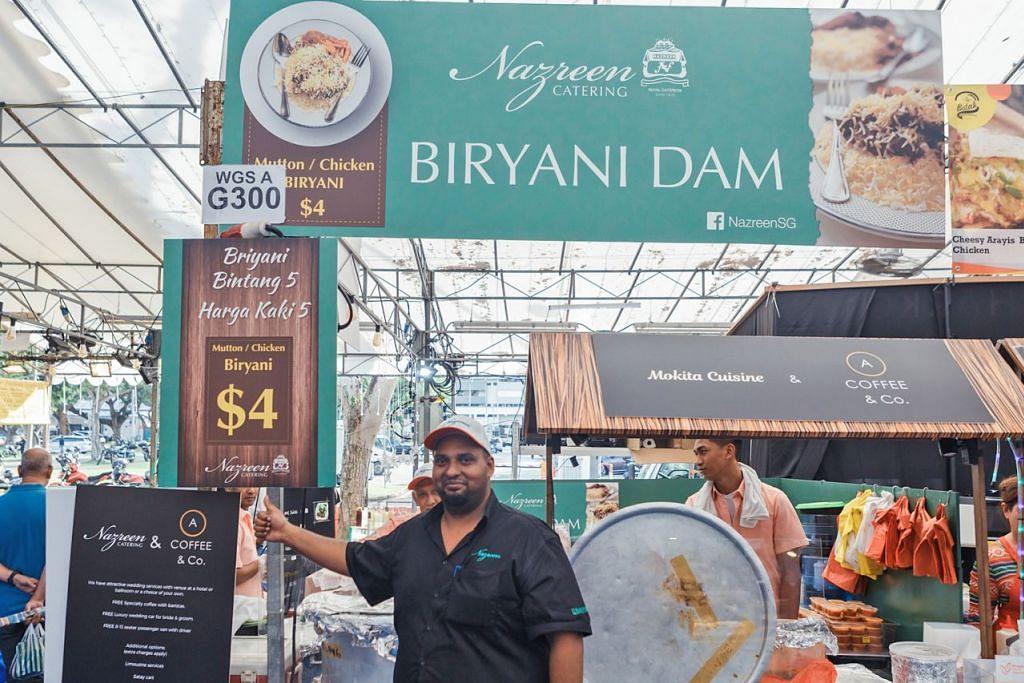 HARGA BERPATUTAN: Encik Mohamed Ghany Mohamed Salleh, Pengurus Nazreen Catering, menawarkan harga berpatutan kepada pelanggan agar mereka dapat menikmati nasi berani bersama keluarga. – Foto BM oleh IQBAL FAIZAL