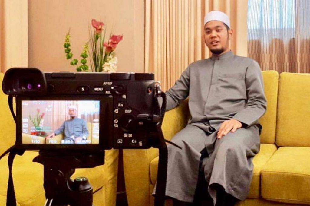 PENUHI UNDANGAN: Ustaz Zahil giat memenuhi undangan bukan hanya sebagai imam solat tarawih, bahkan, muncul di kaca televisyen serta pelbagai acara keagamaan lain di rantau ini khususnya yang berteraskan Al-Quran. - Foto ihsan MUHAMMAD ZAHIL ZAKARIA AL HAFIZ