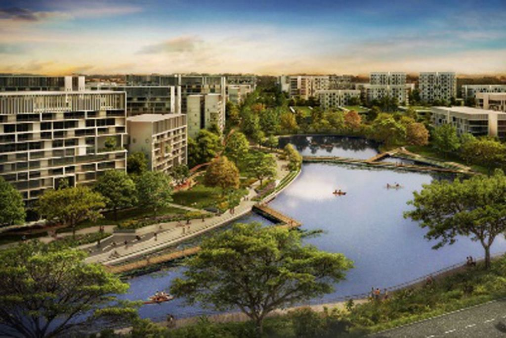 CIRI KEHIJAUAN: Tengah Pond (gambar) menawarkan kawasan menarik dan tenang untuk penduduk menikmati pelbagai aktiviti rekreasi.- Foto HDB