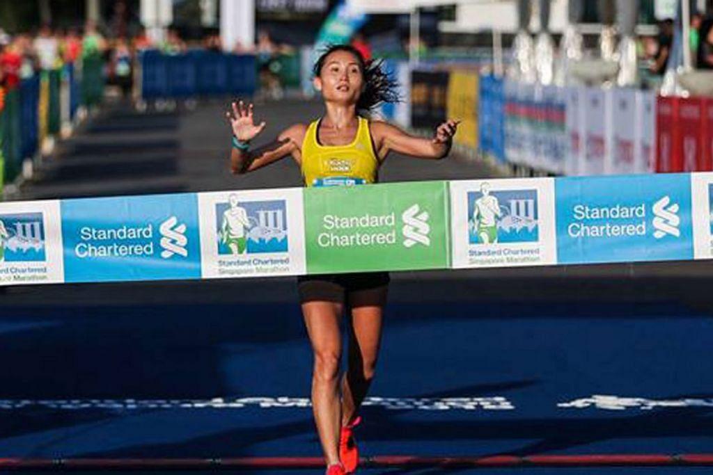 DIGANTUNG: Lim Baoying dilarang menyertai sukan maraton selama tiga tahun dan sembilan bulan selepas ujian bagi bahan terlarang terhadapnya di acara Standard Chartered Singapore Marathon 2018 didapati positif. - Foto fail