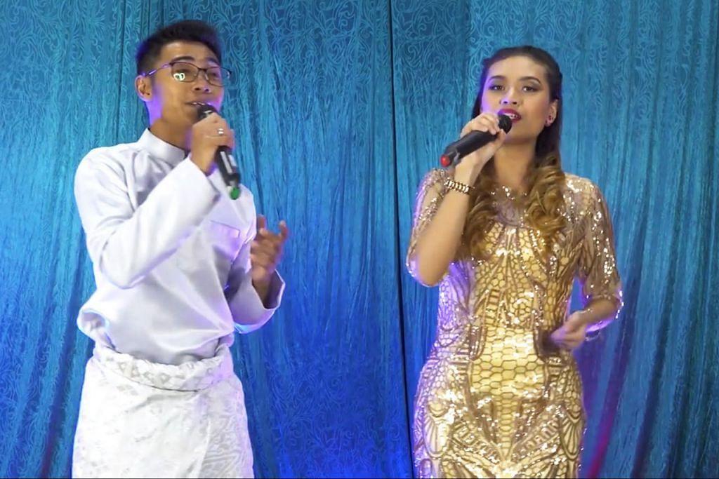 DUET 'POWER': Jumali Sanotri (kiri) dan Fatin SerulingLady dipasangkan bagi lagu 'Di Pinggiran Aidilfitri' dan 'Senandung Mulia'. – Foto VOZ MANAGEMENT