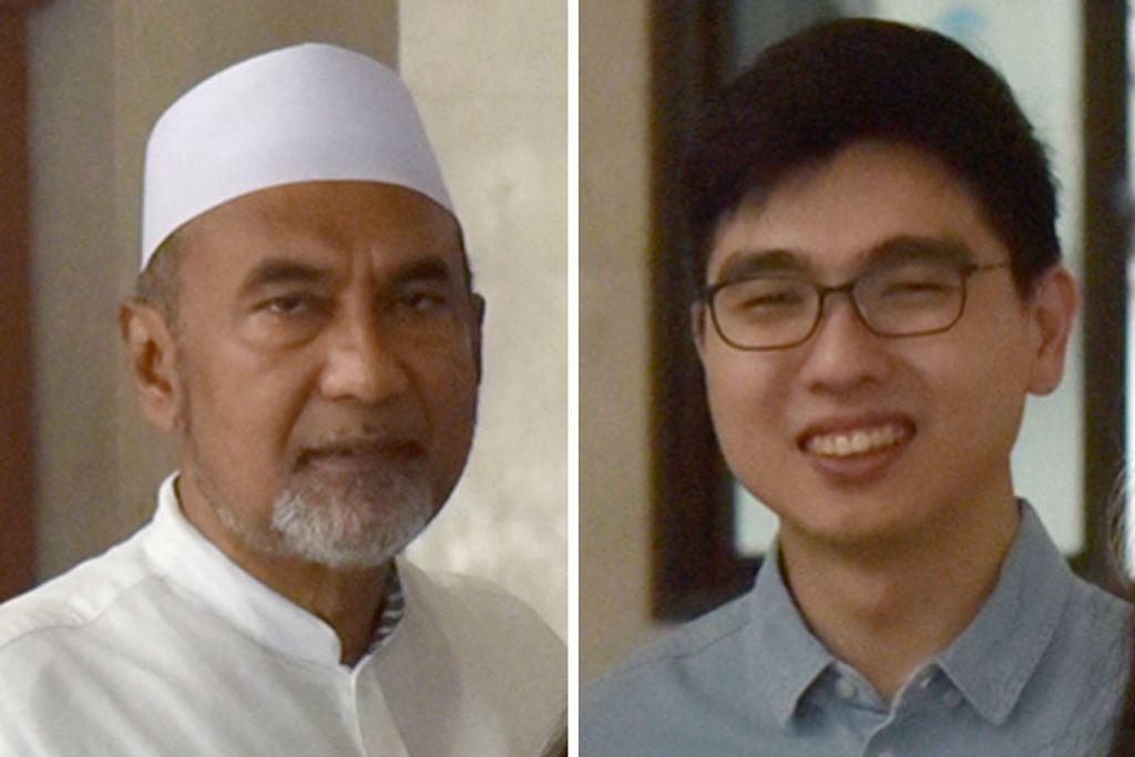 Pengerusi Masjid Khalid, Encik Allaudin Mohamed (kiri) dan  Pastor Gereja Heart of God, Encik Garrett Lee (kanan).