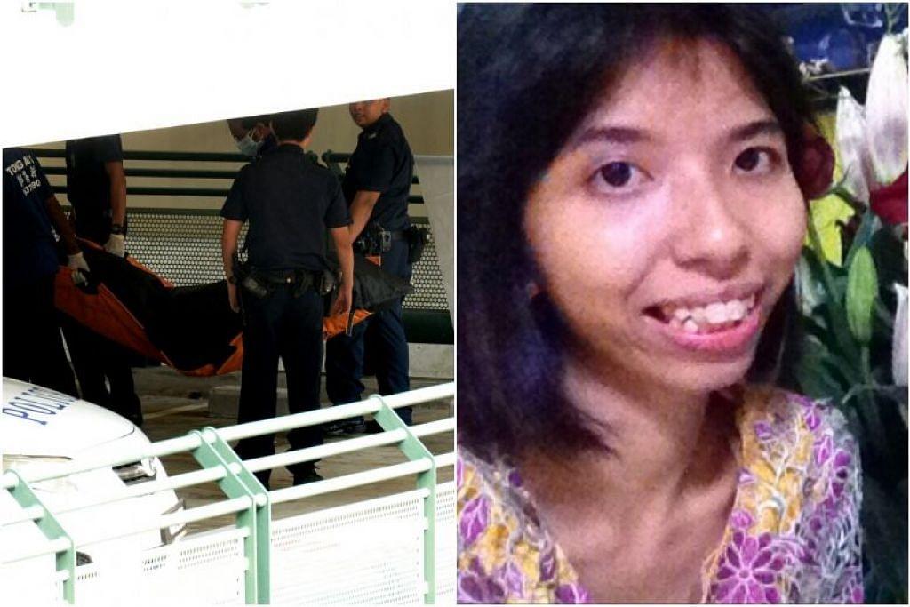 Allahyarhamha Atikah Dolkifli (kanan) telah dihumban keluar dari parapet di Deck 5A sebuah tempat meletak kereta di Toa Payoh Lorong 2 pada malam 31 Ogos 2015. FOTO: LIANHE WANBAO, IHSAN DOLKIFLI SHARIFF
