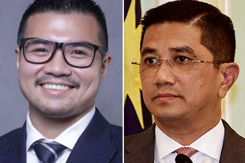 MASIH JADI TANDA TANYA: Datuk Azmin (kanan) sebelum ini menafikan dakwaan bekas ketua pemuda Parti Keadilan Rakyat (PKR) Haziq Abdullah (kiri) bahawa beliau lelaki yang bersamanya dalam video seks sejenis yang tular di media sosial. - Foto-foto fail