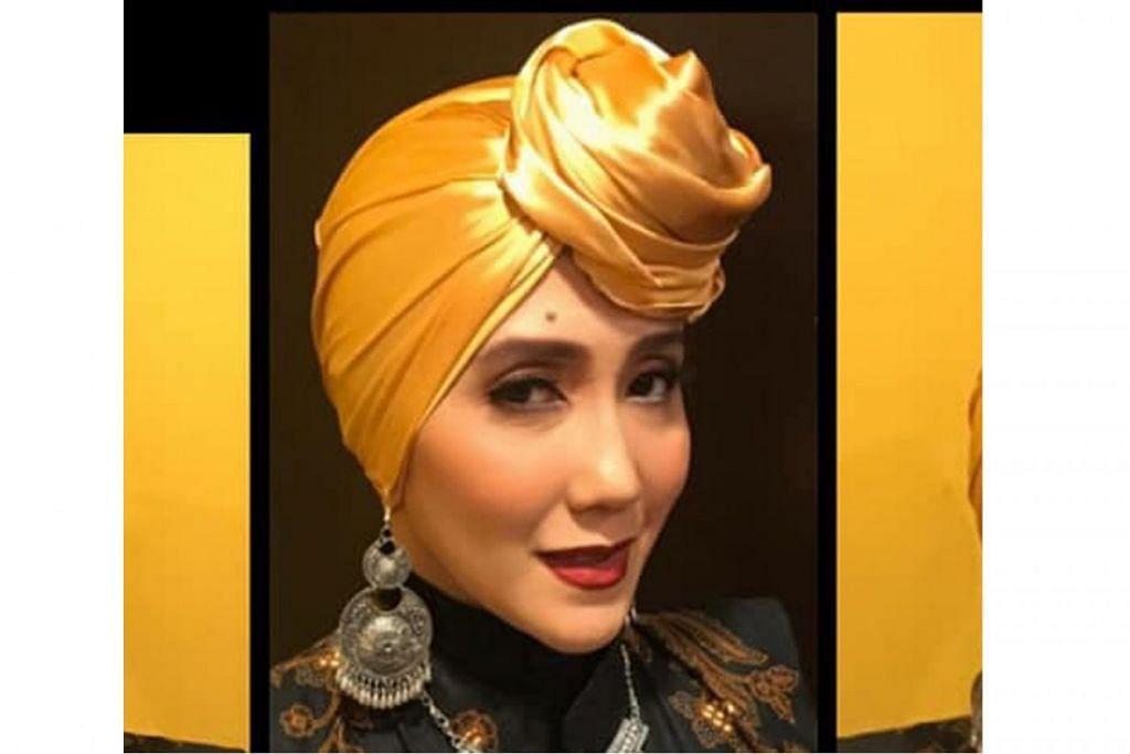PERKASA IBU TUNGGAL: Penyandang gelaran Ms Singapore Malays International 2017/2018, Cik Zuhaina Safwan, bersyukur dapat memberi semangat kepada ibu tunggal lain yang sertai peraduan peragaan tahun ini. – Foto ihsan ZUHAINA SAFWAN