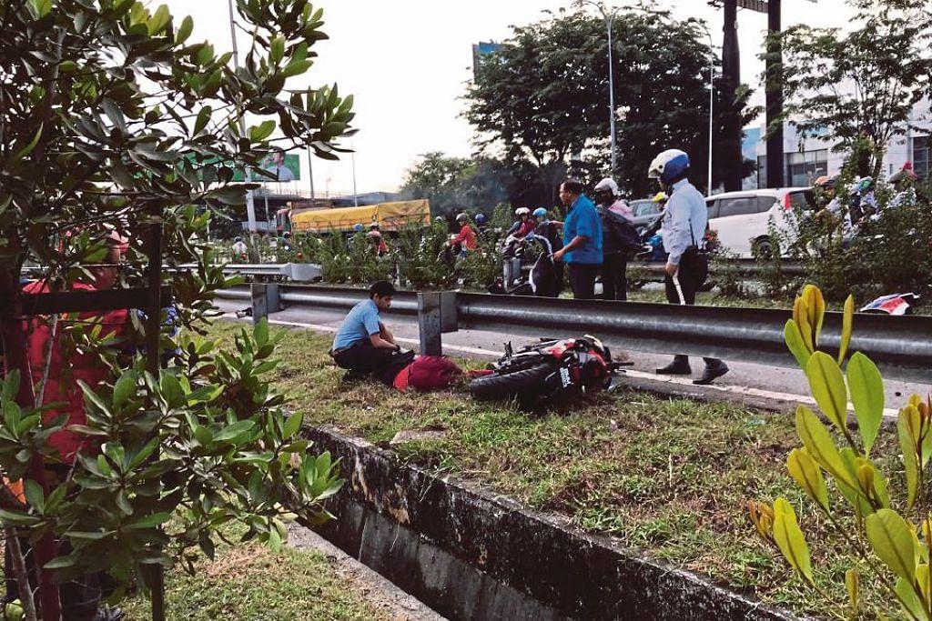 Pasangan suami isteri, Allahyarham Muhd Hamadi dan Allahyarhamha Nur Syuhadah, meninggal dunia akibat kemalangan motosikal di Lebuhraya Persekutuan, Malaysia. FOTO: BH ONLINE