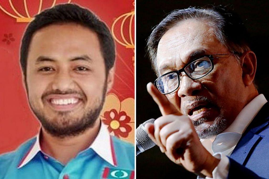 PENYOKONG ANWAR: Encik Farhash (kiri) merupakan Setiausaha Politik kepada Datuk Anwar - Foto-foto fail