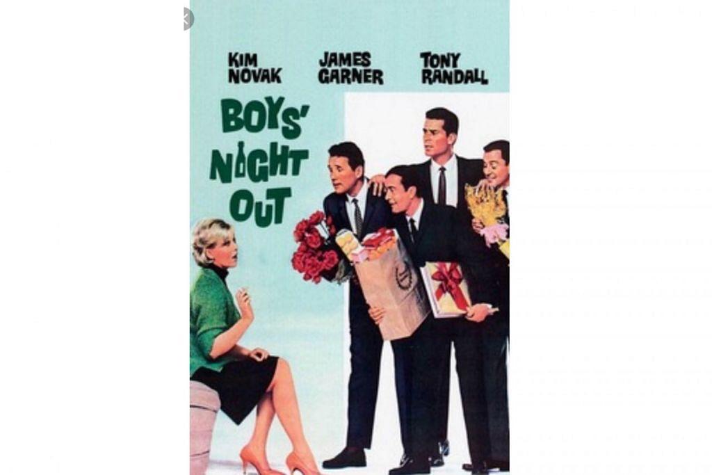 FILEM HOLLYWOOD: Perjalanan hidup empat sekawan – tiga yang sudah berumah tangga dan seorang lagi duda yang menjadi intipati filem Boys' Night Out ditayangkan pada 1962 menjadi cetusan bagi penerbitan filem Shaukeen pada 1981. – Foto INDIA TRIBUNE