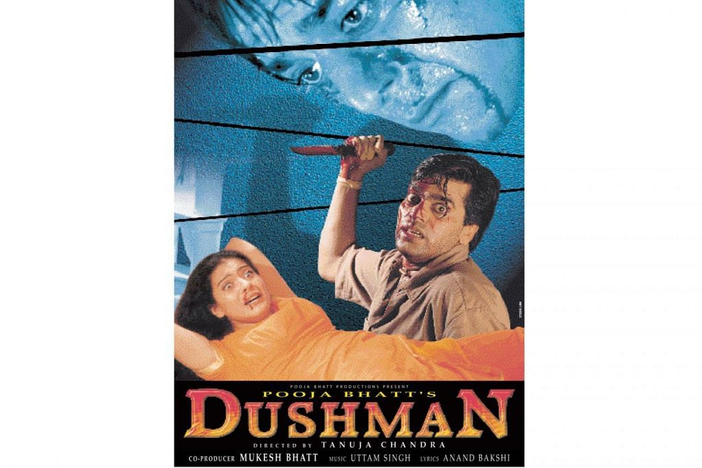IDEA HOLLYWOOD: Filem penuh debar Eye for an Eye yang dihasilkan Hollywood pada 1996 menjadi sandaran bagi penerbitan filem Dushman (atas) pada 1998. – Foto INDIA TRIBUNE