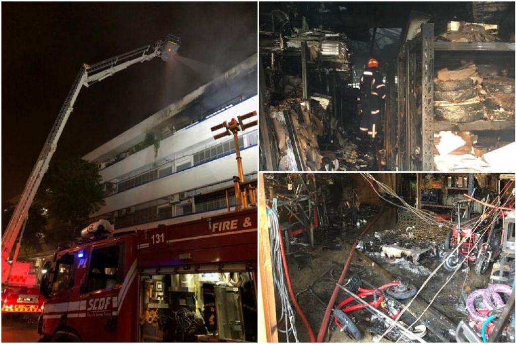 SCDF diberitahu mengenai kebakaran di  2024 Bukit Batok Street 23 sekitar 1.20 pagi pada 3 Ogos. - Foto Facebook SCDF