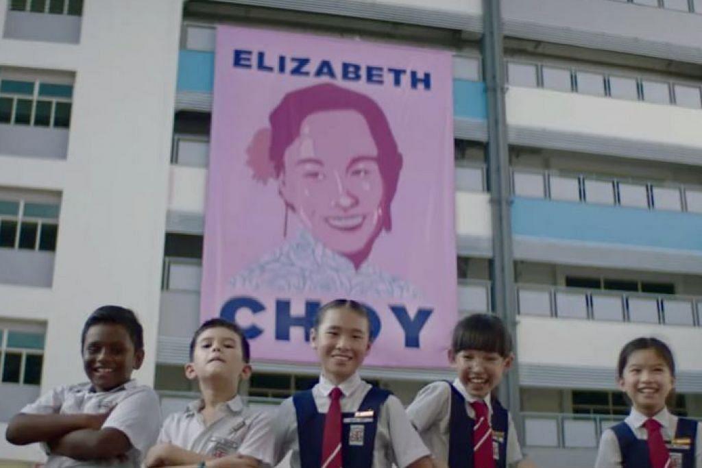 SAMBUTAN BAIK: Video Hari Kebangsaan papar Elizabeth Choy (atas) oleh Starhub dan perenang kurang upaya Toh Wei Soong oleh Singtel diterima baik masyarakat. – Foto TANGKAP LAYAR YOUTUBE