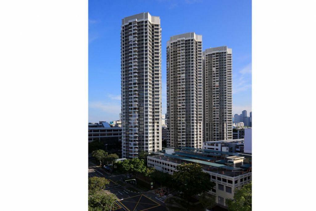 CECAH JUTAAN DOLAR: Walau harga flat jualan semula HDB turun sebanyak 0.2 peratus Julai lalu, lima daripada sembilan unit flat di City View @ Boon Keng dijual tahun ini melebihi sejuta dolar. - Foto fail