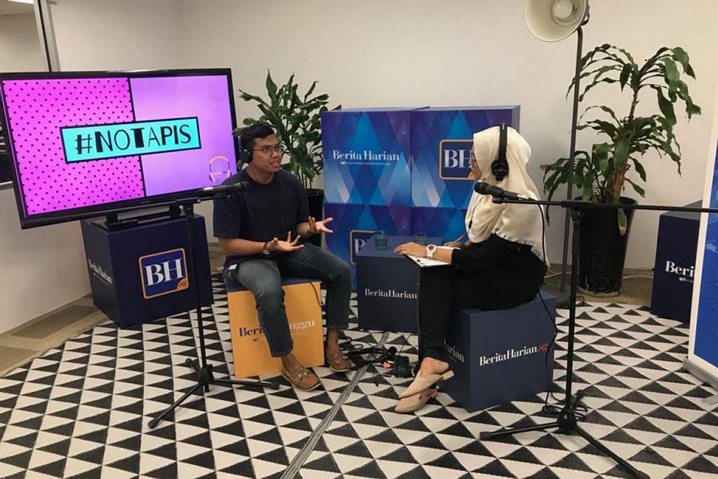 KONGSI JERIH PAYAH KEHIDUPAN: Encik Zulhaqem Zulkifli (atas), yang melanjutkan pengajian di universiti berprestij dunia, Universiti Oxford, dengan Biasiswa Suruhanjaya Perkhidmatan Awam (PSC), berkongsi liku-liku kehidupannya dengan hos podcast, koresponden BH, Shahida Sarhid – Foto BH oleh SITI AISYAH NORDIN