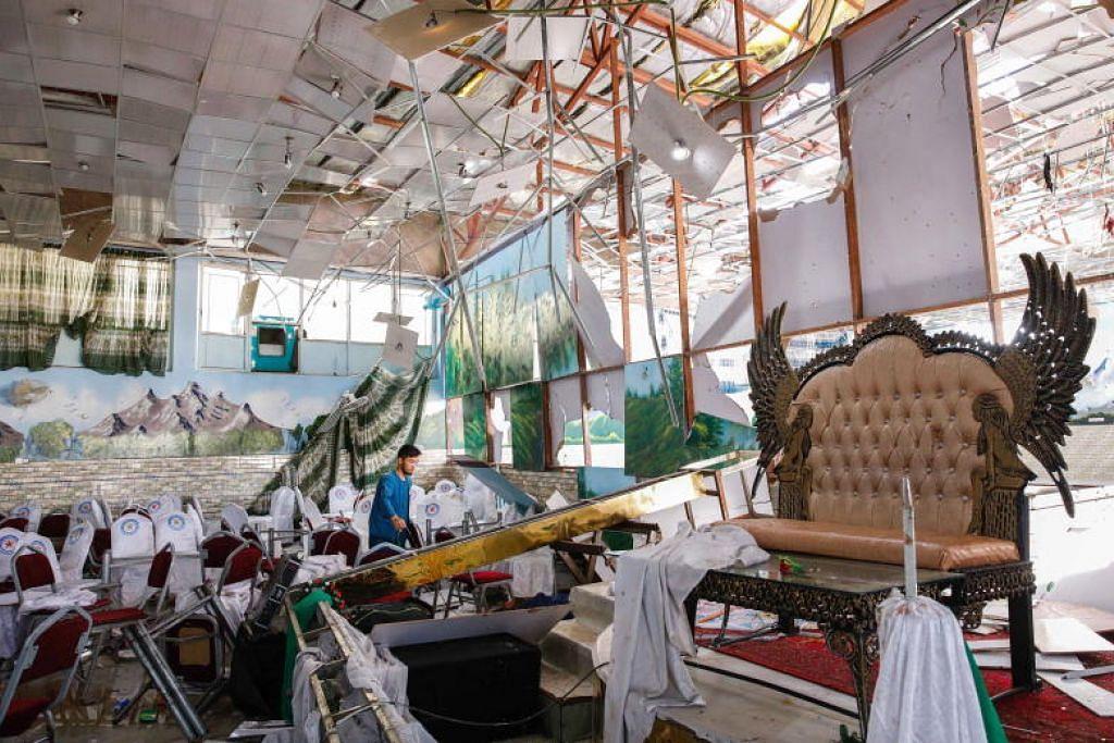 63 maut, 182 cedera dalam letupan semasa majlis perkahwinan di Kabul, Afghanistan. FOTO: EPA-FREE