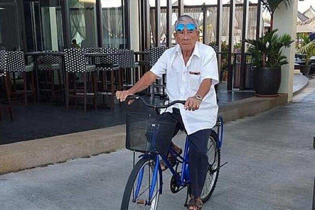 KELUARGA SEDANG MERAYU PADA SAKSI: Encik Peh Seng Yap terbunuh akibat kemalangan langgar lari yang melibatkan kenderaan berat di Tampines. -Foto: LIANHE WANBAO