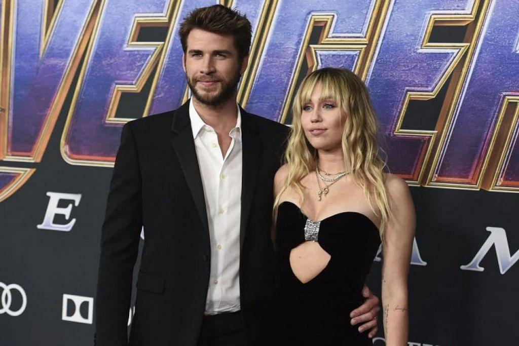 TETAP MENJADI IBU BAPA BERDEDIKASI: Walaupun pelakon Liam Hemsworth telah menuntut cerai untuk membubarkan perkahwinannya dengan Miley Cyrus, dalam satu kenyataan, mereka berkata akan tetap menjadi ibu bapa yang berdedikasi kepada semua haiwan yang mereka kongsi bersama. -Foto AP.