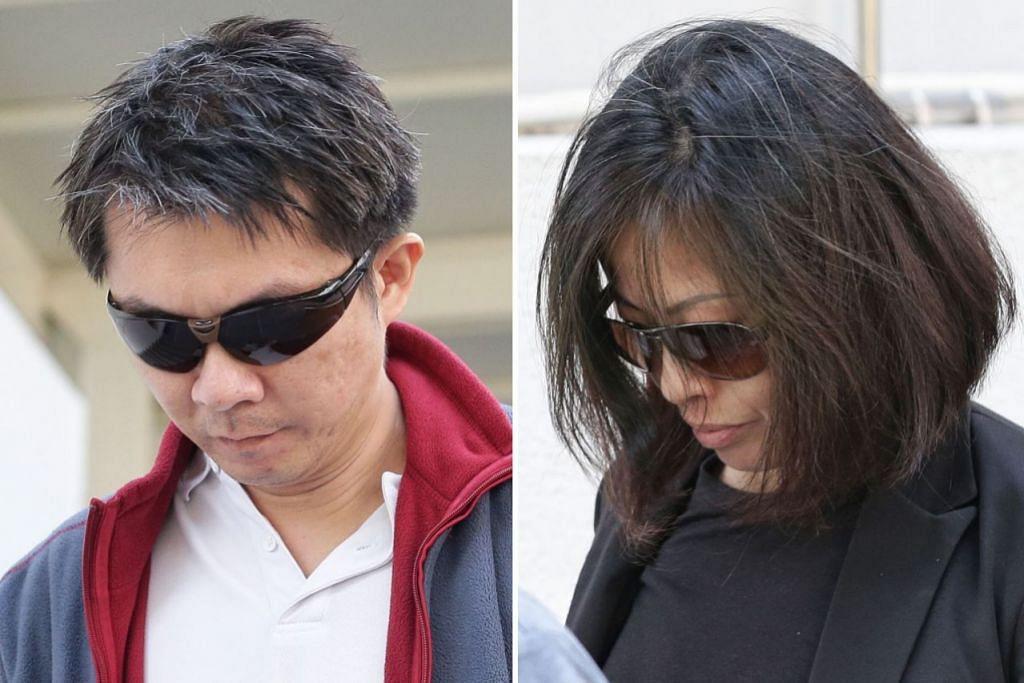 DERA AMAH: Tay Wee Kiat (kiri) dan and Chia Yun Ling mula jalani hukuman penjara mereka kerana mendera Cik Moe Moe Than pada Mac lalu. - Foto fail