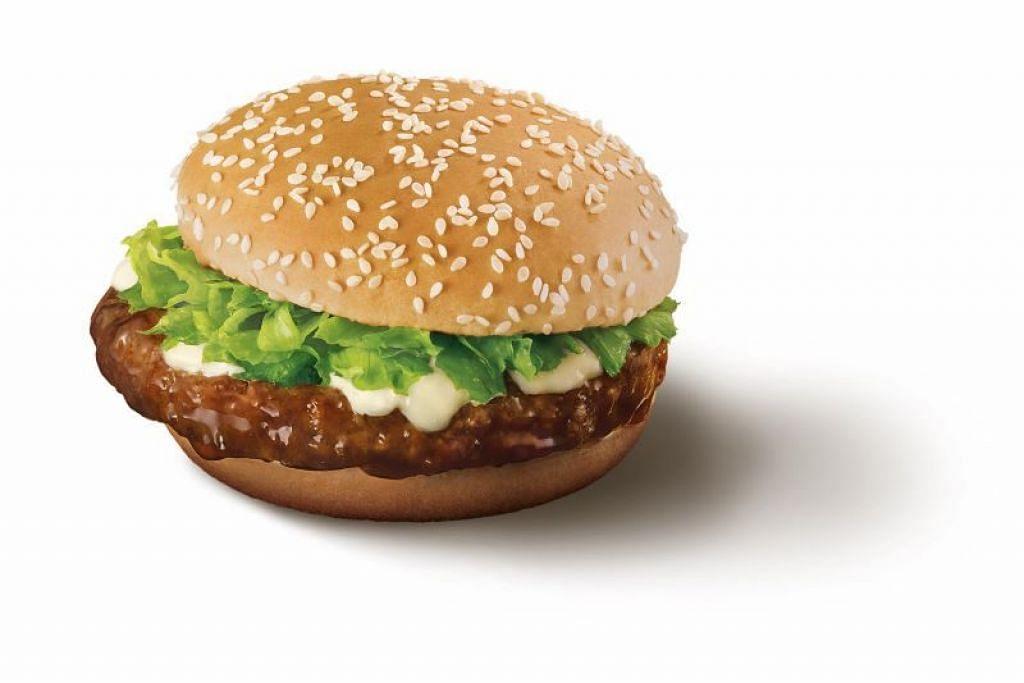 BURGER SAMURAI KEMBALI LAGI: Burger pilihan ramai, Burger Samurai dari McDonald's kembali lagi, dan kini boleh digandingkan dengan kentang Shaker perisa rumpai laut. -Foto MCDONALD'S SINGAPORE.