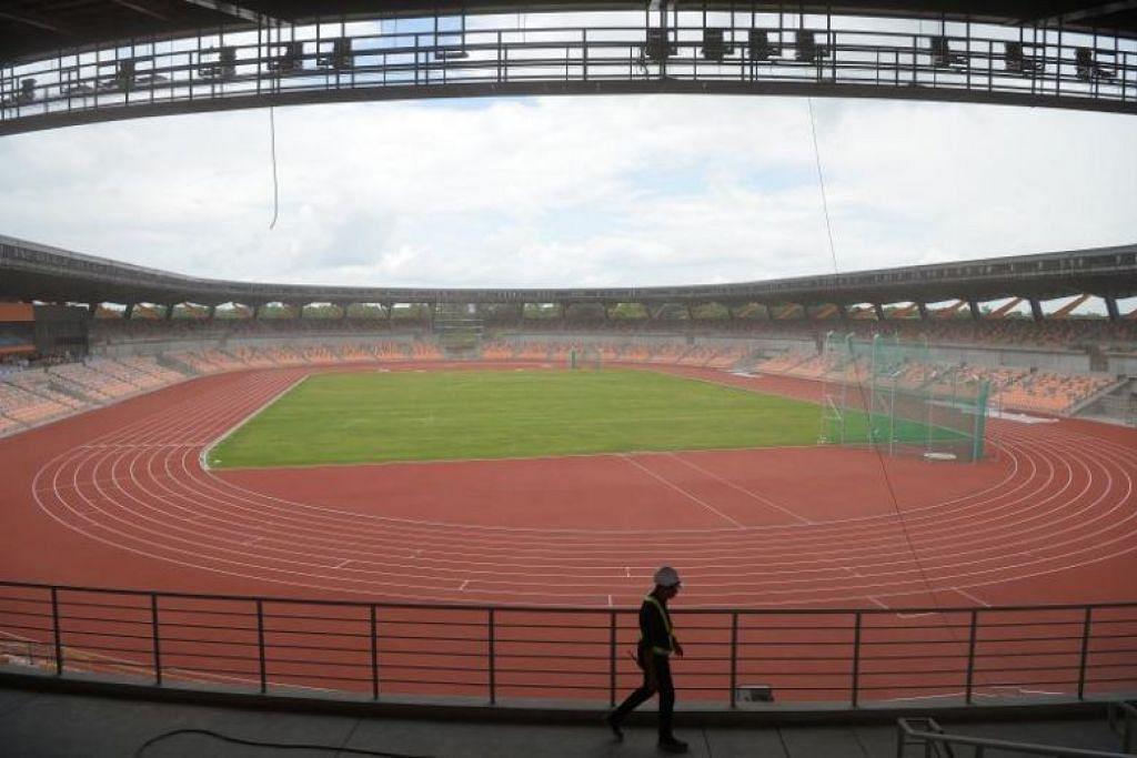 Foto yang diambil pada 19 Julai 2019, menunjukkan stadium atlit untuk Sukan SEA tahun ini di New Clark City, Filipina. PHOTO: AFP