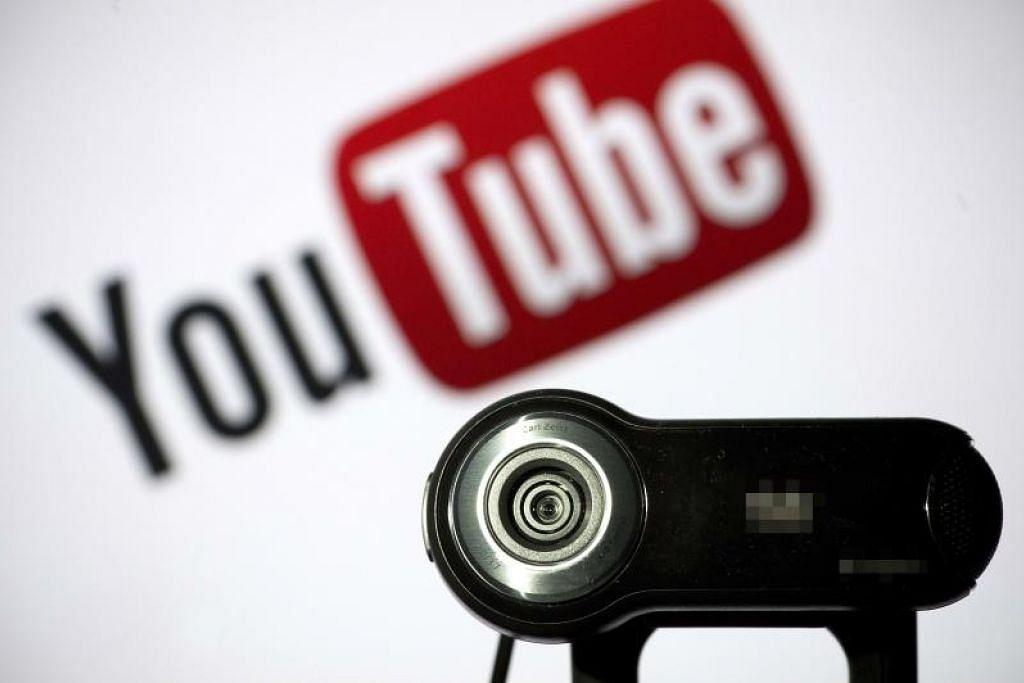 DITUDUH KUMPUL DATA TANPA KEBENARAN: YouTube dituduh telah mengumpulkan maklumat peribadi daripada kanak-kanak tanpa persetujuan ibu bapa mereka terlebih dahulu. -Foto AFP.