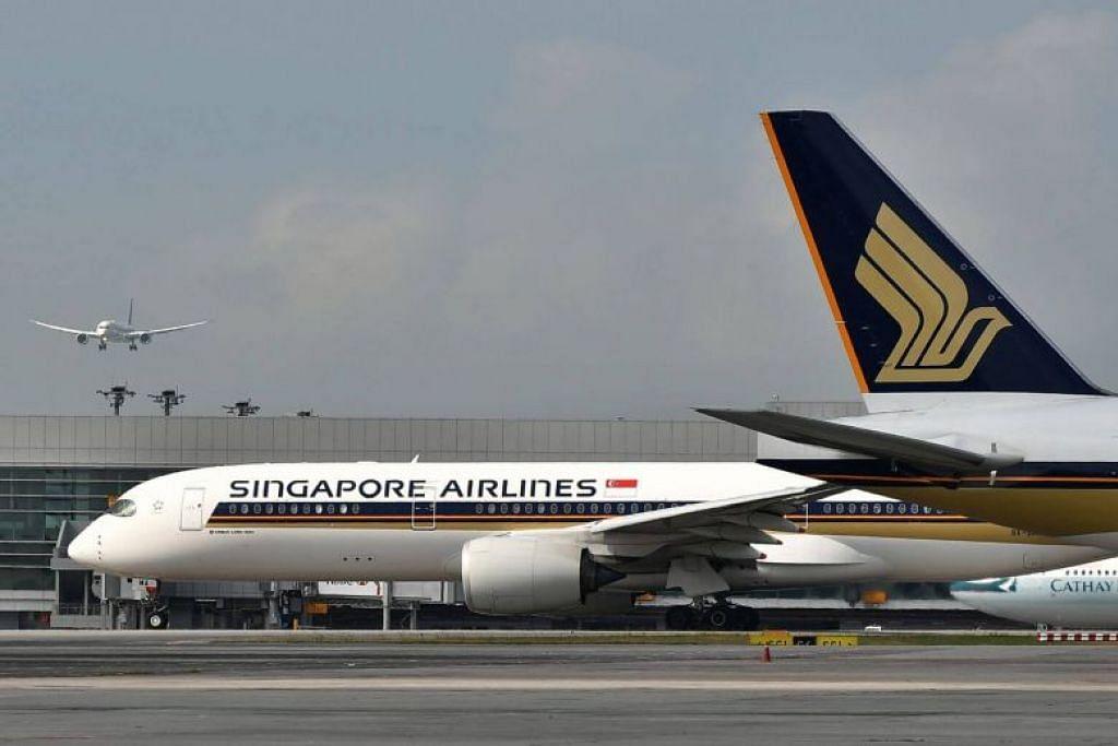 PENERBANGAN DIJADUALKAN SEMULA:  Dua penerbangan Singapore Airlines (SIA), SQ630 dan SQ639, dijadualkan semula selepas satu taufan yang kuat dijangka melanda Tokyo pada Ahad (8 September). -Foto fail.