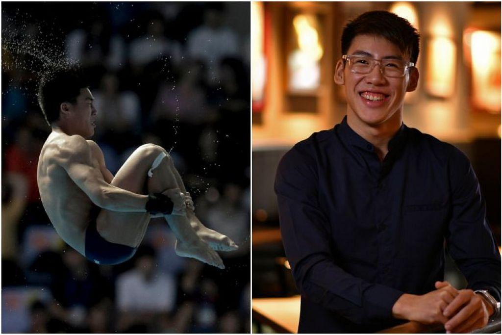 WAKIL TERJUN CANTIK PERTAMA DI SINGAPURA: Jonathan Chan meraih pingat emas dalam platform 10m bagi kategori lelaki di Piala Terjun Cantik Asia 2019. -Foto: CHONG JUN LIANG, SINGAPORE SWIMMING ASSOCIATION