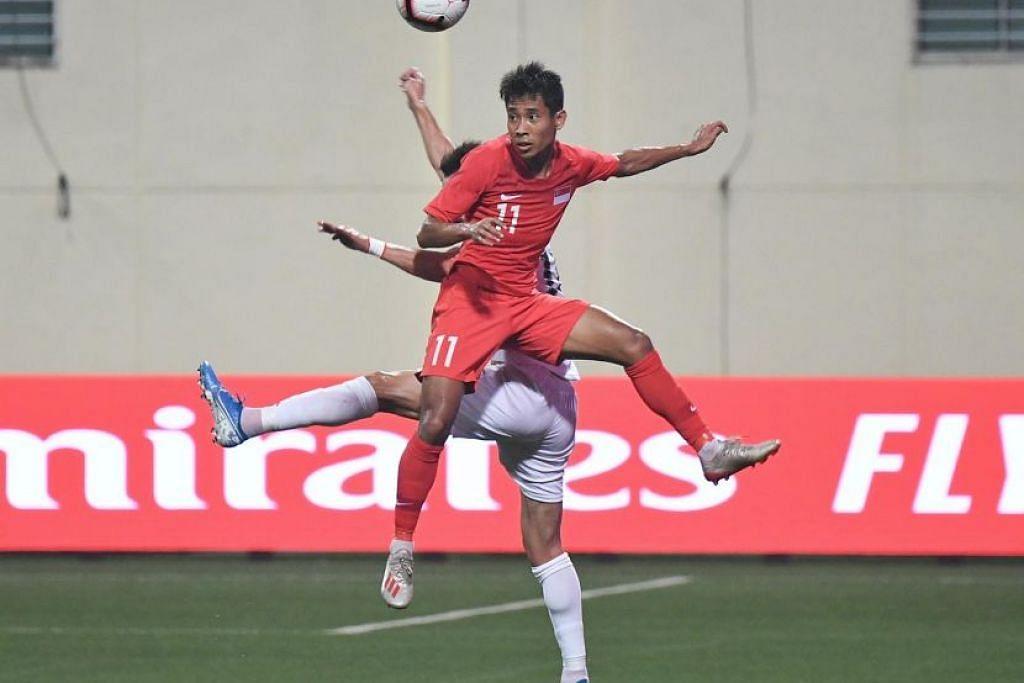 Shakir Hamzah dan Safuwan Baharudin berjaya mengalahkan Palenstin 2-1.