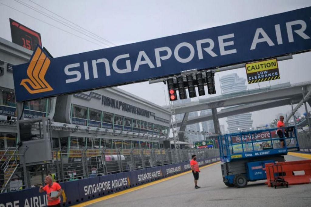 Persiapan di Bangunan Pit Formula 1 pada 18 September, menjelang Formula One Singapore Airlines Singapore Grand Prix. - Foto BH oleh MARK CHEONG