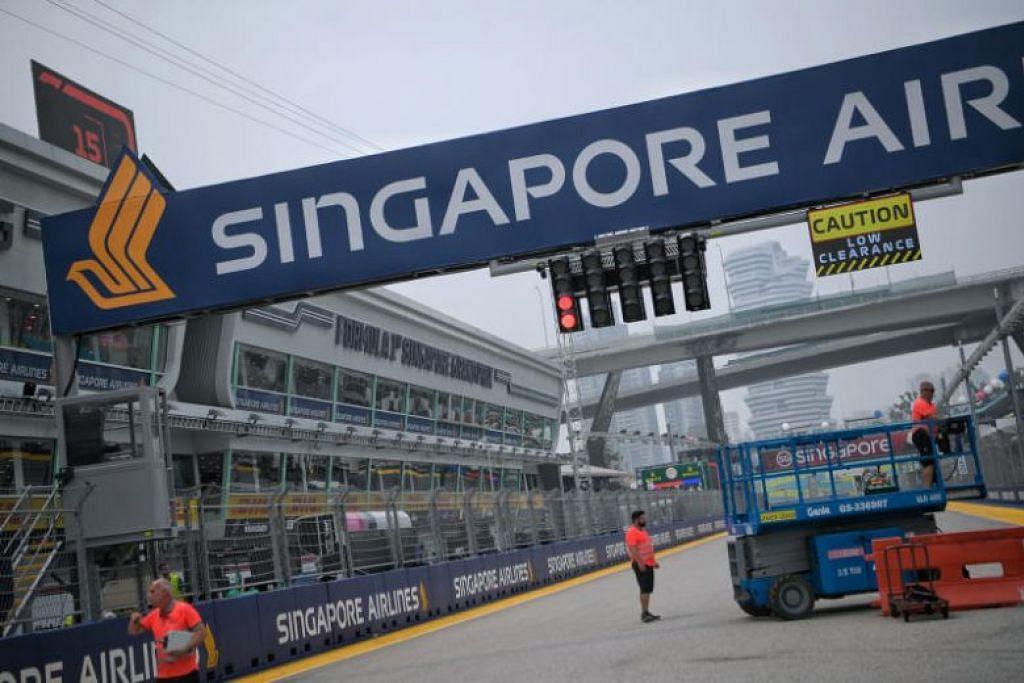 PENAJA GRAND PRIX:  Singapore Airlines (SIA) mengumumkan pada Khamis (19 September) bahawa ia telah melanjutkan penajaannya atas acara perlumbaan Formula Satu Grand Prix Singapura sehingga 2021. -Foto BH oleh MARK CHEONG.
