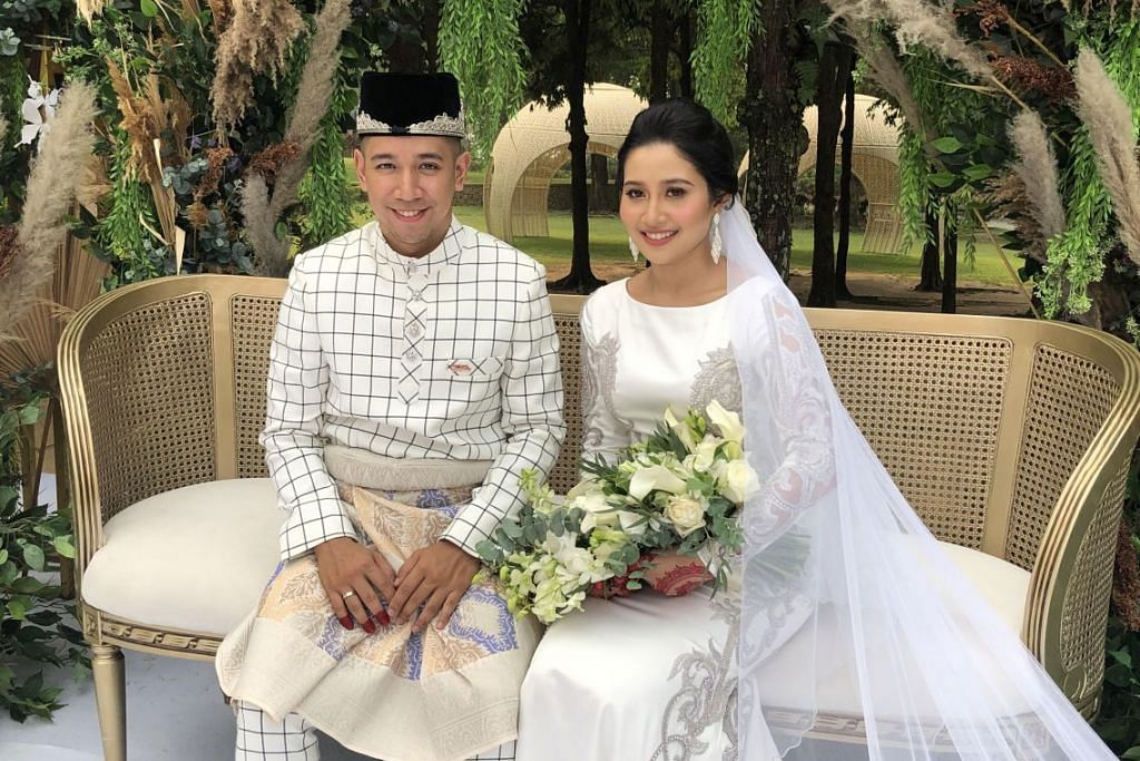 Sufi Rashid bergelar suami kepada usahawan Nurulain Md Yusof, pagi hari Sabtu (21 Sept). Foto: -HARYANI ISMAIL.