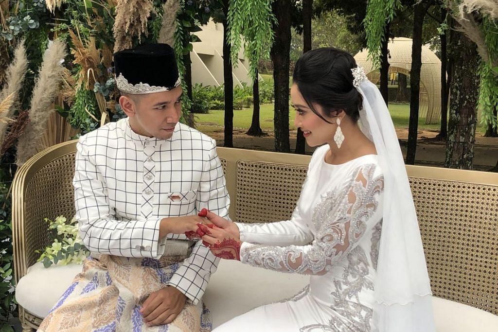 Majlis pernikahan penuh syahdu dan serba sederhana berkonsepkan taman menghijau di Hotel Pulse Grande, Putrajaya. Foto: -HARYANI ISMAIL.