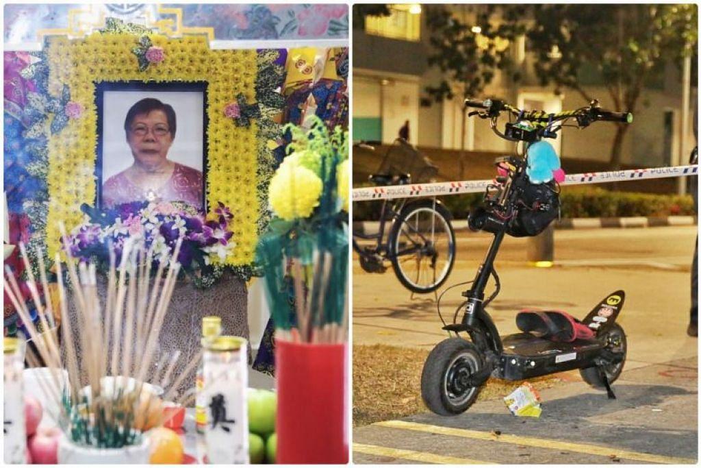 Mendiang Ong Bee Eng meninggal dunia di hospital pada 25 September selepas dilanggar penunggang e-skuter di Bedok North. - Foto ST/ SHIN MIN DAILY NEWS