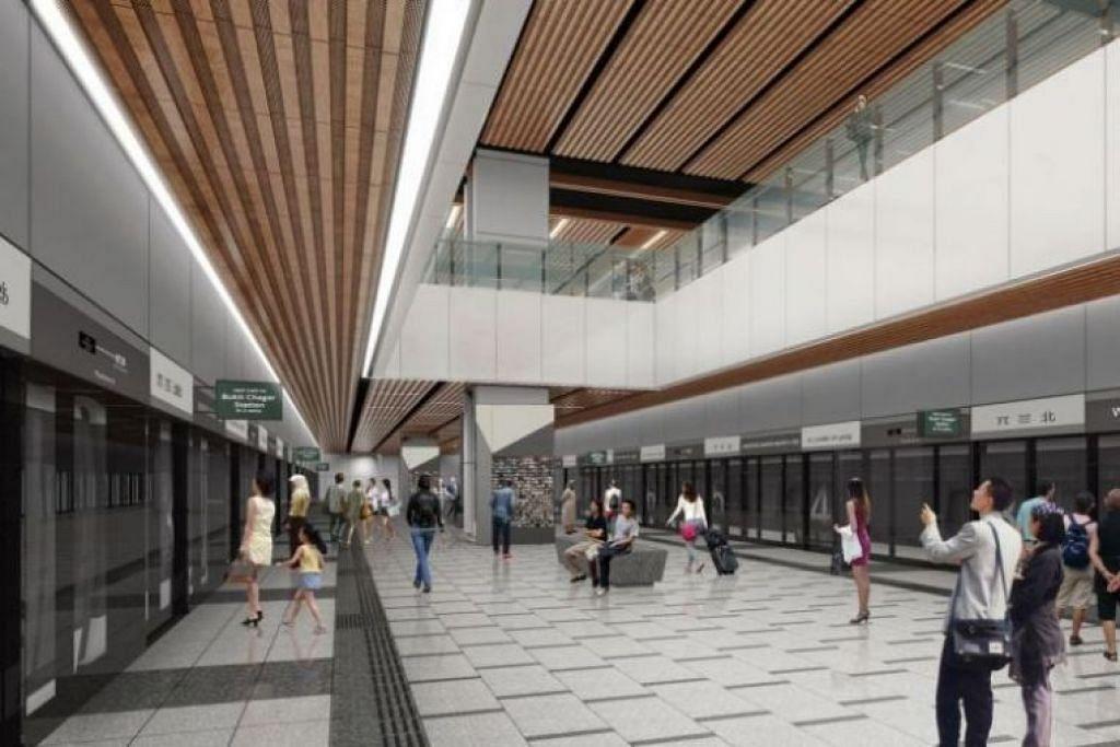 Gambaran artis akan stesen Woodlands North, yang akan dihubungkan dengan Johor Baru oleh Sistem Gerak Cepat (RTS) - Foto LTA