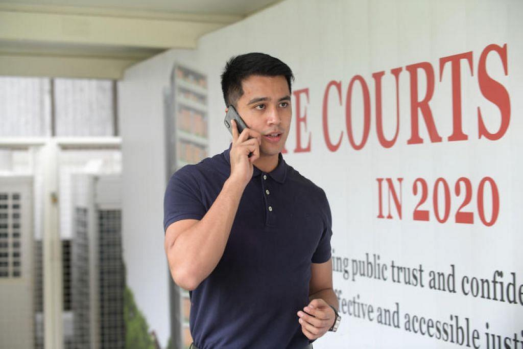 KEMBALI KE MAHKAMAH: Aliff kembali ke mahkamah pada pagi Selasa (1 Oktober) atas dua tuduhan mencuri pada Ogos 2018 dan Jun 2019. -Foto BH oleh ALPHONSUS CHERN.