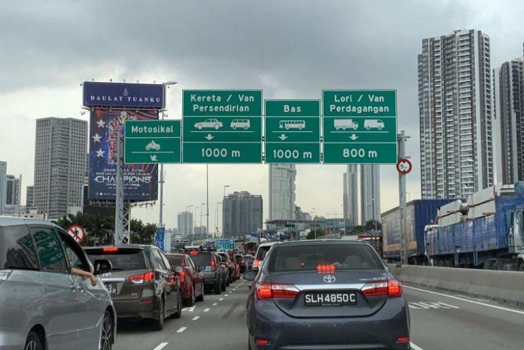 Penguatkuasaan VEP digantung buat masa ini bagi kedua-dua masa sibuk dan bukan sibuk. - Foto Lianhe Zaobao