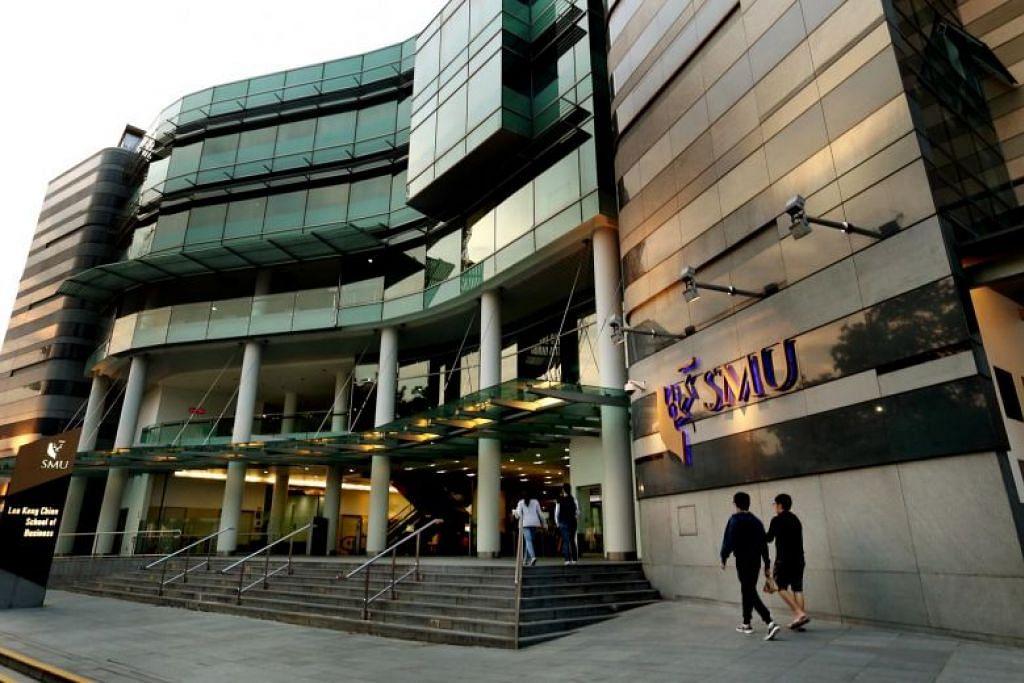 TINGKATKAN KESELAMATAN KAMPUS: Universiti Pengurusan Singapura (SMU) telah meningkatkan keselamatan kampusnya, antaranya dengan memasang lebih banyak kamera litar tertutup (CCTV) terutama di kawasan bilik mandi, untuk menghalang dan mengawal tindakan salah laku seksual. - Foto fail.