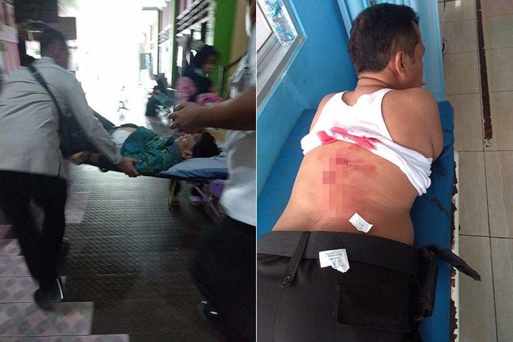 SERANGAN PISAU: Menteri Keselamatan Indonesia, Encik Wiranto, tercedera apabila diserang dua orang bersenjatakan pisau pada pagi Khamis (10 Oktober). -Foto media sosial.