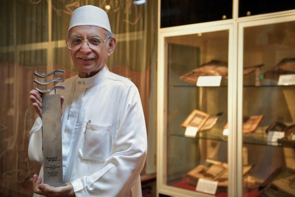 AMAT DIHORMATI: Habib Hassan, antara tokoh agama yang paling dihormati di Singapura dinobat Jauhari 2019.