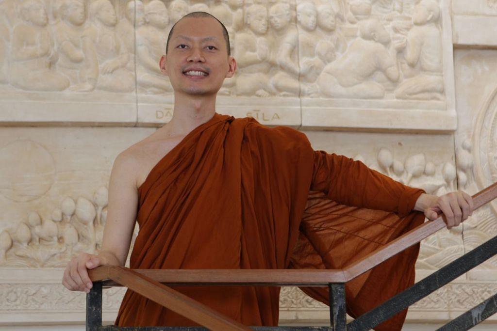 Venerable Phra Goh Chun Kiang, 34 tahun.  - Foto BM oleh MARCELLIN LOPEZ