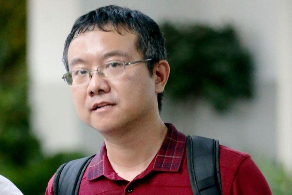 CABUL KEHORMATAN MAHASISWI: Long Yun, bekas pensyarah kanan di NUS, dijatuhi hukuman penjara 14 minggu kerana mencabul kehormatan mahasiswi, 20 tahun. Foto BH oleh WONG KWAI CHOW.