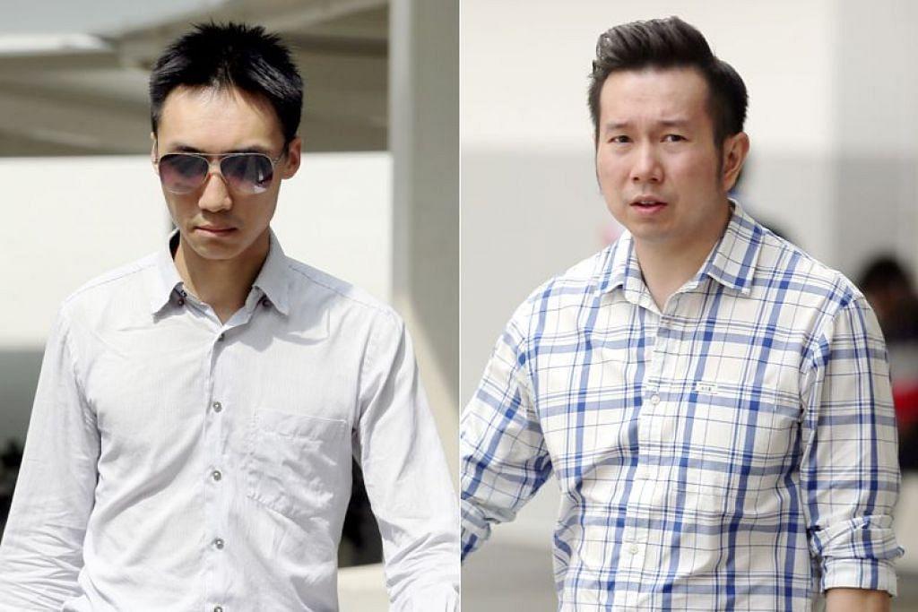 Dr Teo Eu Gene (kiri) dan Dr Andy Joshua Warren (kanan) dituduh menipu dan memalsukan akaun antara Ogos 2014 dan Oktober 2015. - Foto ST oleh WONG KWAI CHOW