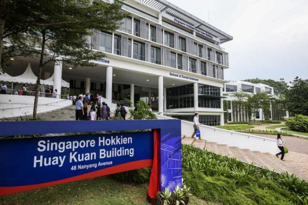 Bangunan Kolej Kemanusiaan, Kesenian dan Sains Sosial (CoHASS) telah diberi nama  Bangunan Huay Kuan Hokkien Singapura. - Foto LIANHE ZAOBAO