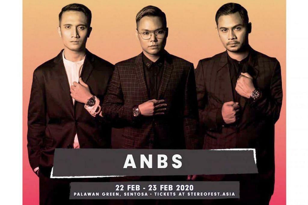 SINGKAP NOSTALGIA: Kumpulan ANBS yang terdiri daripada finalis Anugerah 2005, (dari kiri) Fauzie Laily, Hyrul Anuar dan Syed Azmir, adalah antara 20 artis yang bakal menghiburkan orang ramai di pesta muzik Melayu terbesar, StereoFest pada Februari depan. - Foto ADI MEDIA PTE LTD