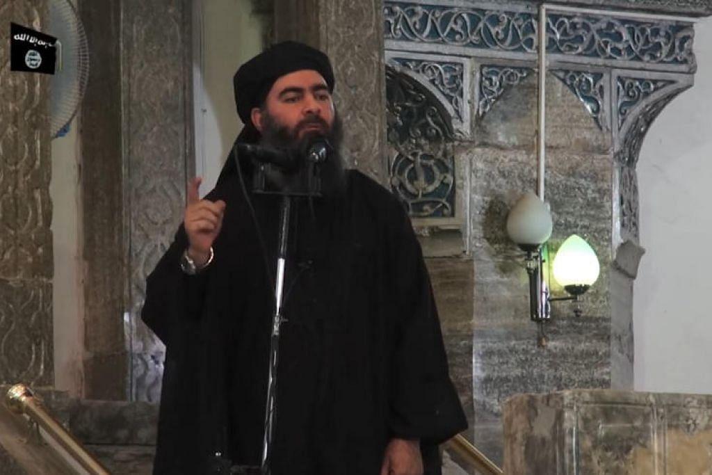DIPERCAYAI TERBUNUH: Abu Bakr al-Baghdadi, dipercayai telah terbunuh dalam operasi oleh tentera Amerika Syarikat di Syria.- AFP.