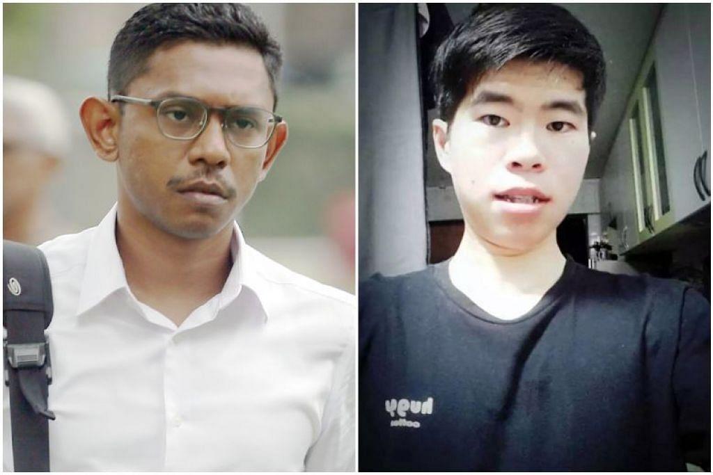 Pegawai Waran Pertama Mohamed Farid Mohd Saleh (kiri) didapati bersalah bersubahat dalam kejadian yang menyebabkan kematian Koperal Kok Yuen Chin (kanan). - Foto WONG KWAI CHOW, LIANHE WANBAO