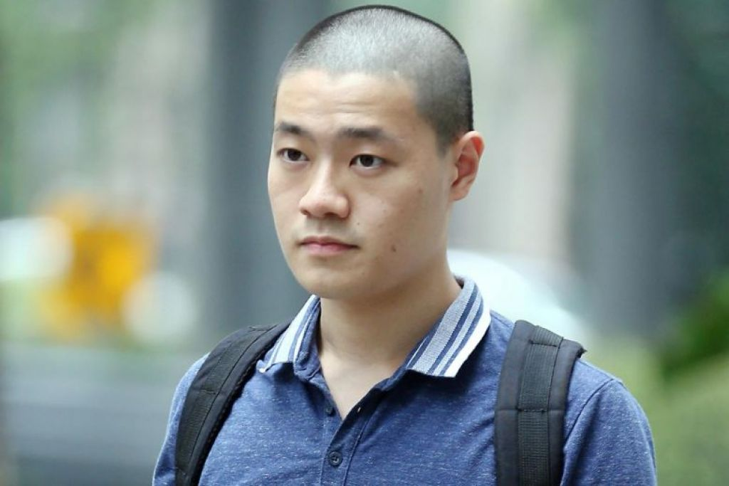 Jonathan Lee Han Wen dijatuhkan hukuman penjara sembilan minggu setelah mengaku bersalah di bawah Akta Pendaftaran (Enlistment Act). - Foto ST oleh WONG KWAI CHOW