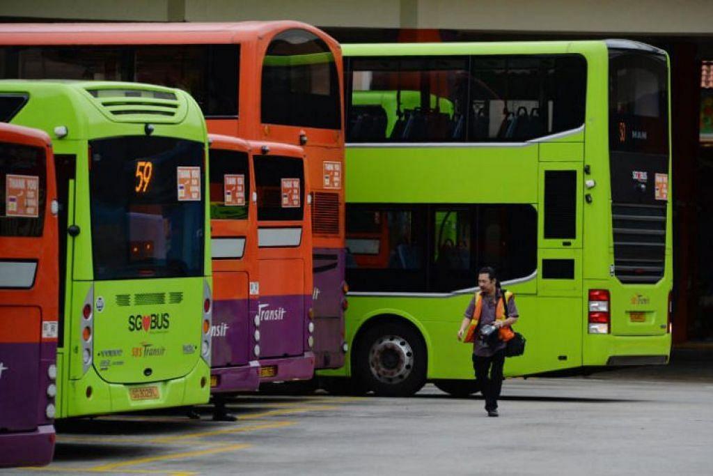 Dalam gambar ini yang diambil pada 22 Oktober 2019, bas disel kelihatan di Bishan. - Foto ST oleh KELLY HUI