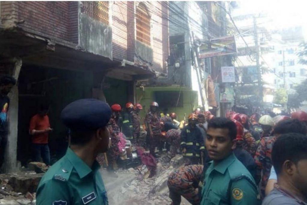 Sekurang-kurangnya tujuh orang mati dalam letupan paip gas di Chittagong, Bangladesh pada 17 November2019. - Foto THE DAILY STAR/ASIA NEWS NETWORK