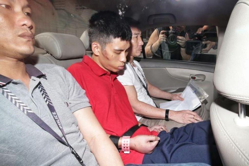 Gabriel Lien Goh hadapi dua dakwaan membunuh atas kematian ibu dan neneknya. - Foto ST oleh KEVIN LIM
