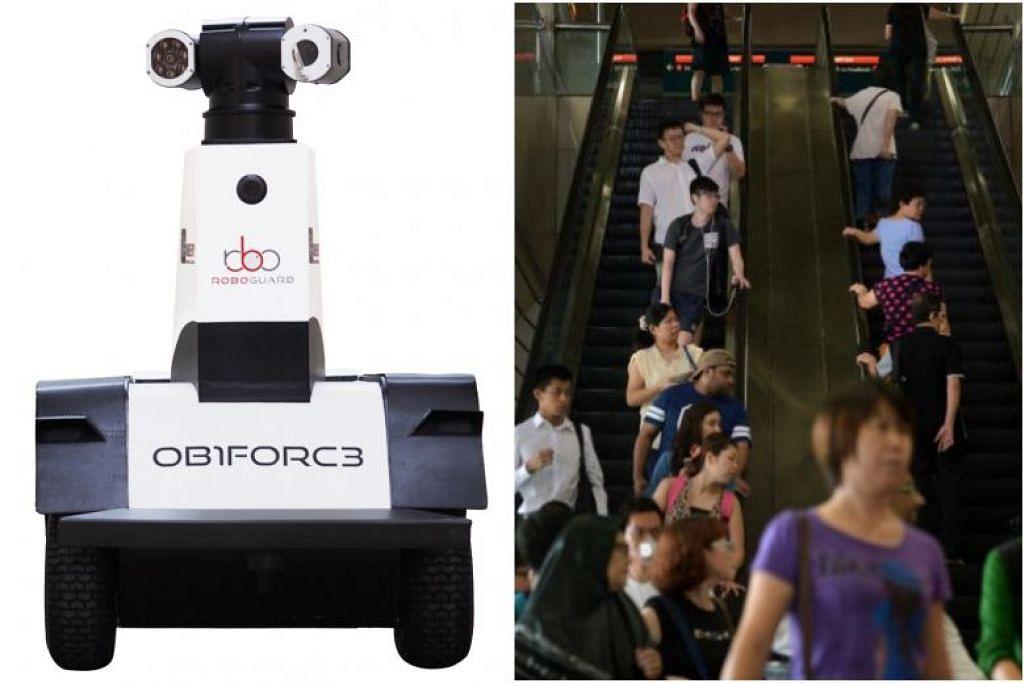 OB1FORC3 merupakan salah satu robot yang akan membantu mengawal dalam latihan keselamatan di stesen Ang Mo Kio. - Foto LTA, fail